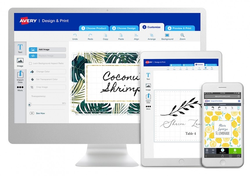Avery címke tervezés egyszerűen, gyorsan, ingyenes tervezőprogrammal.